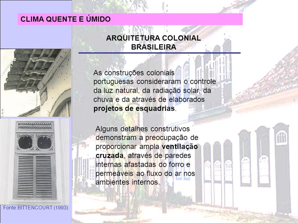 ARQUITETURA COLONIAL BRASILEIRA