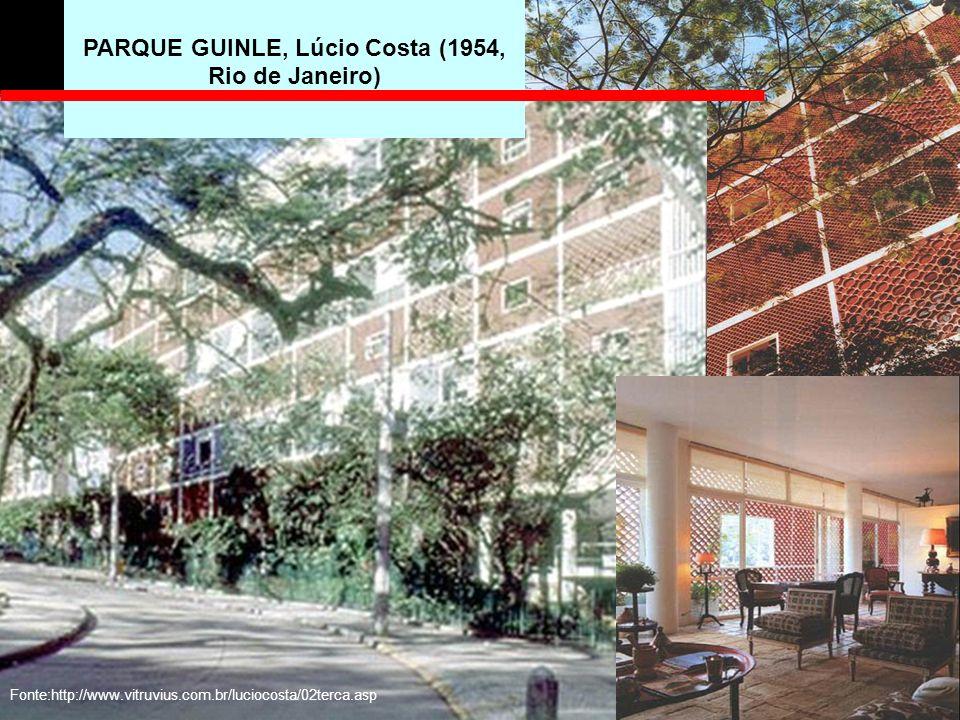 PARQUE GUINLE, Lúcio Costa (1954, Rio de Janeiro)