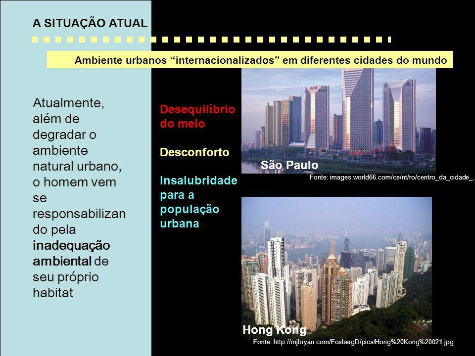 Ambiente urbanos internacionalizados em diferentes cidades do mundo