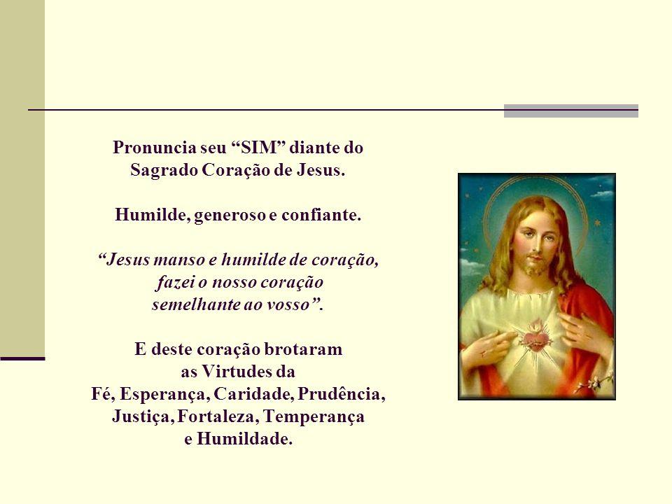 Pronuncia seu SIM diante do Sagrado Coração de Jesus