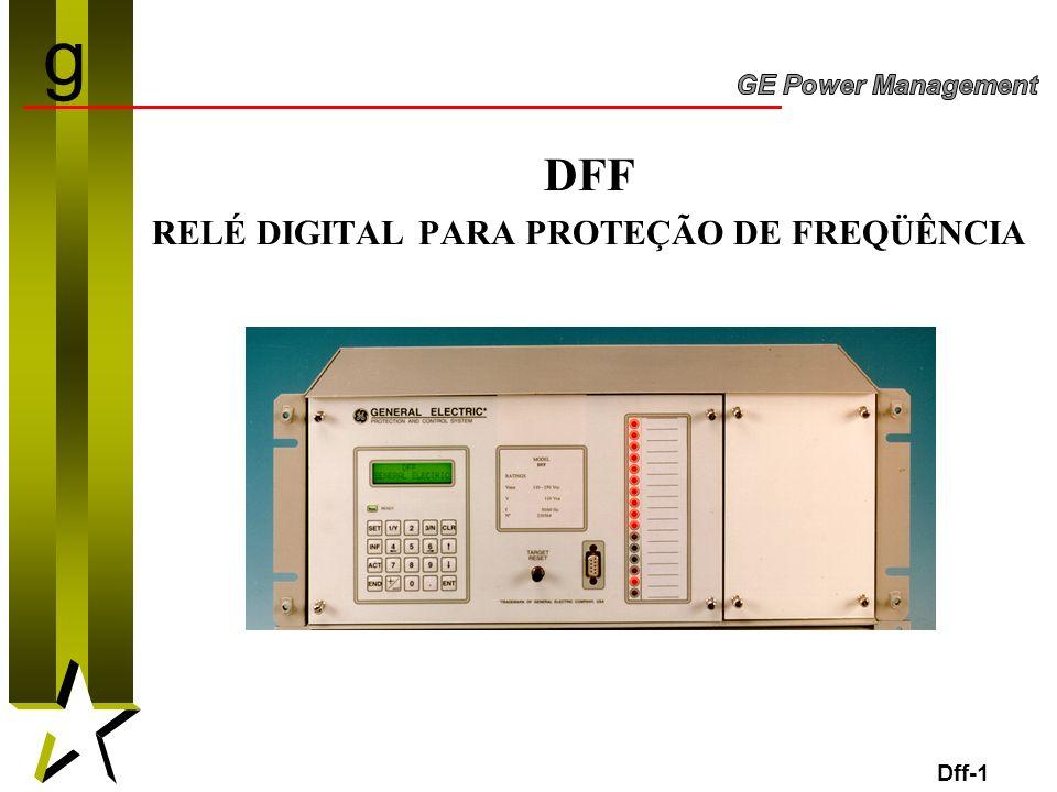 RELÉ DIGITAL PARA PROTEÇÃO DE FREQÜÊNCIA