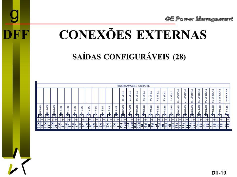 g DFF CONEXÕES EXTERNAS SAÍDAS CONFIGURÁVEIS (28) Dff-10