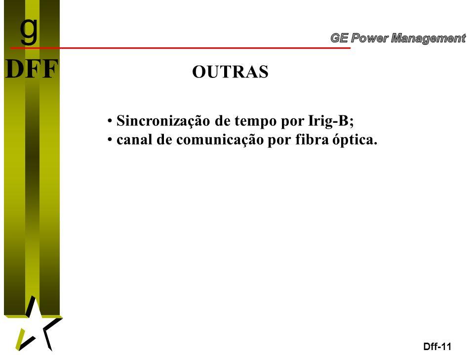 g DFF OUTRAS Sincronização de tempo por Irig-B;
