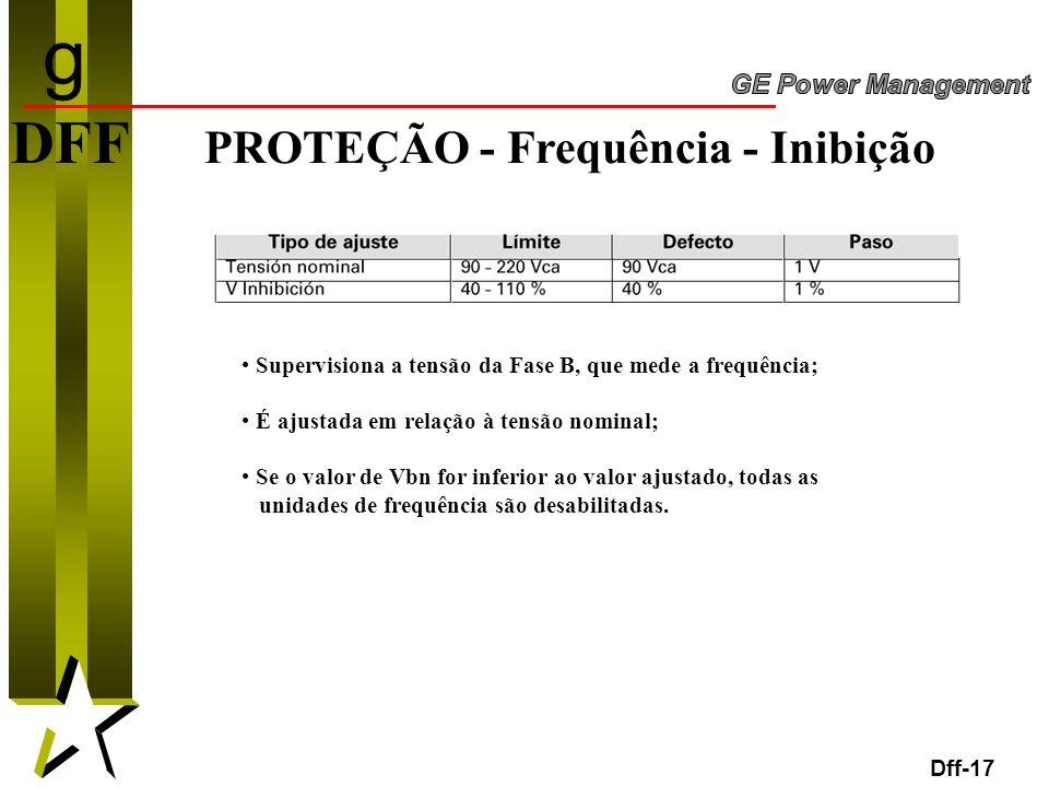 g DFF PROTEÇÃO - Frequência - Inibição