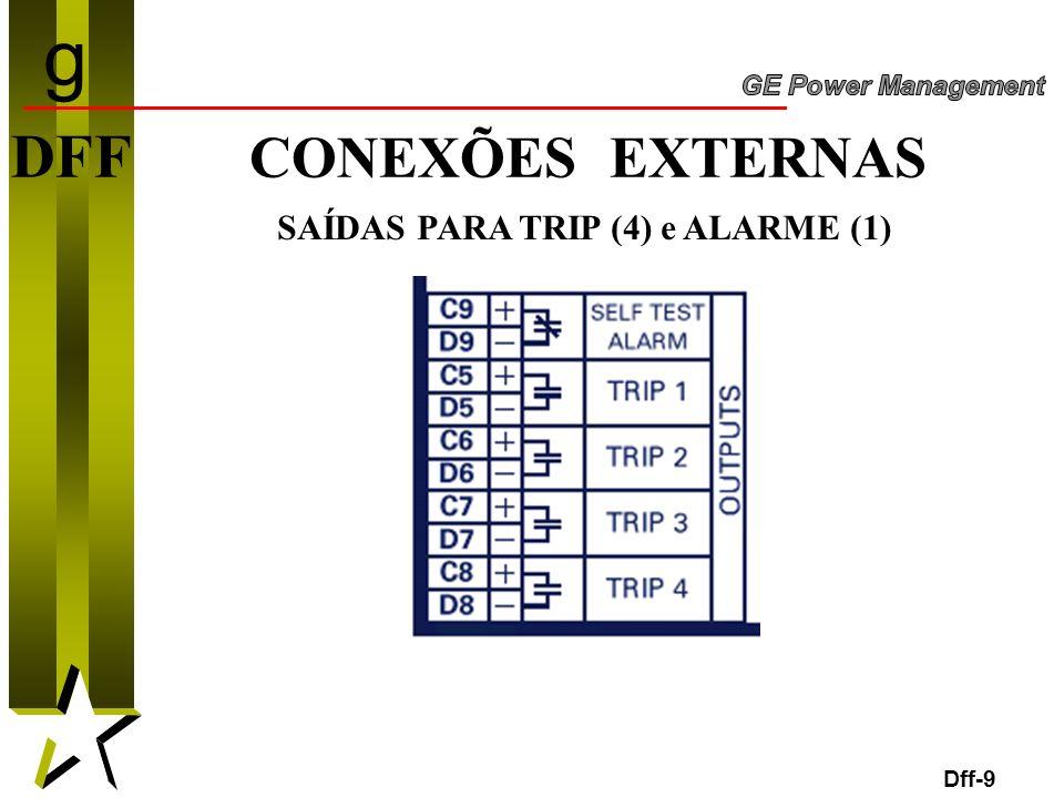 SAÍDAS PARA TRIP (4) e ALARME (1)