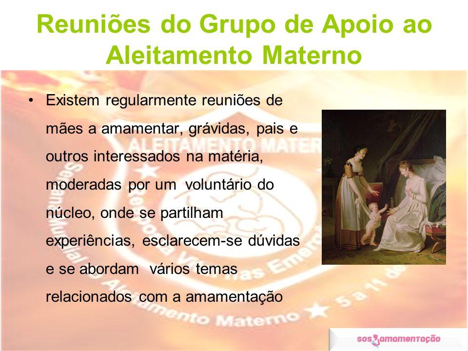 Reuniões do Grupo de Apoio ao Aleitamento Materno