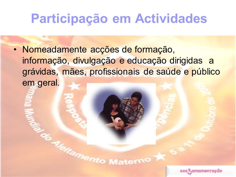 Participação em Actividades