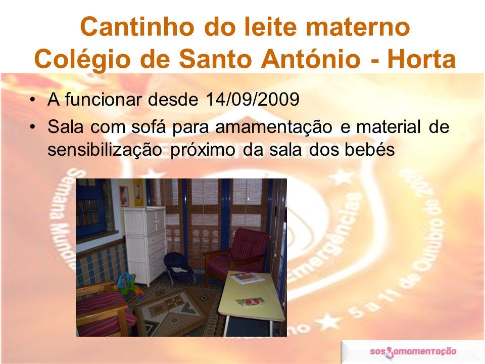 Cantinho do leite materno Colégio de Santo António - Horta