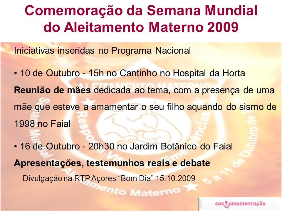 Comemoração da Semana Mundial do Aleitamento Materno 2009