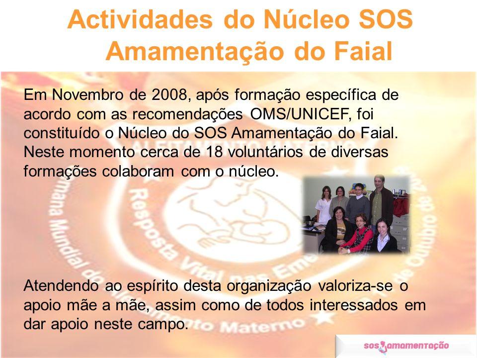 Actividades do Núcleo SOS Amamentação do Faial