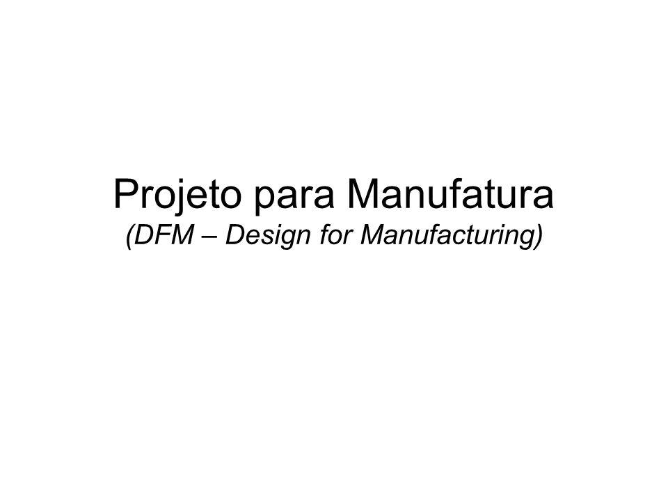 Projeto para Manufatura (DFM – Design for Manufacturing)