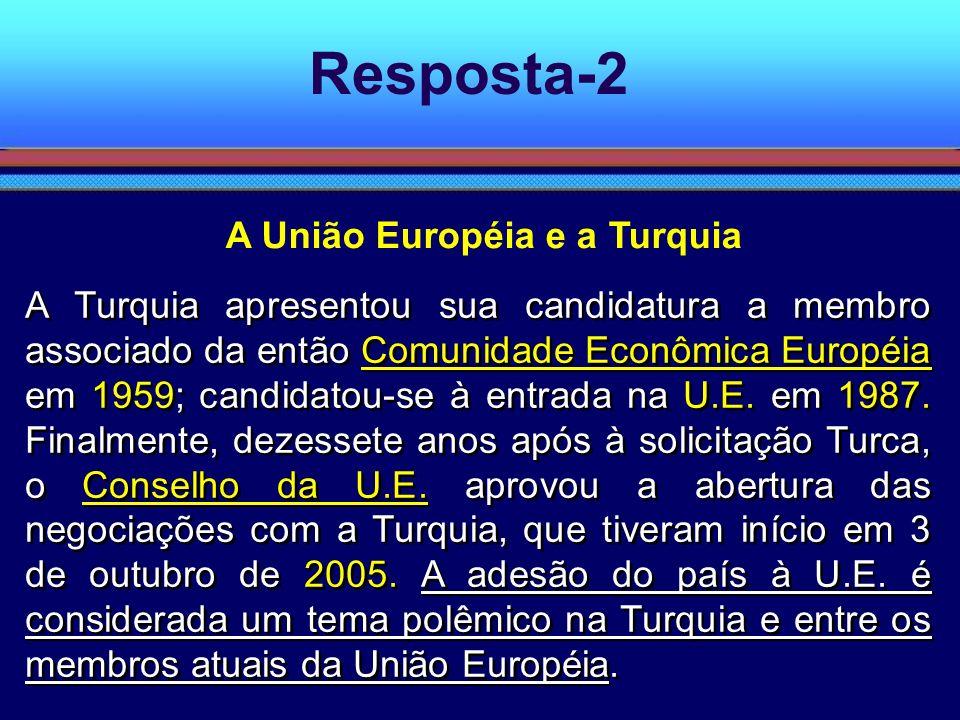 A União Européia e a Turquia