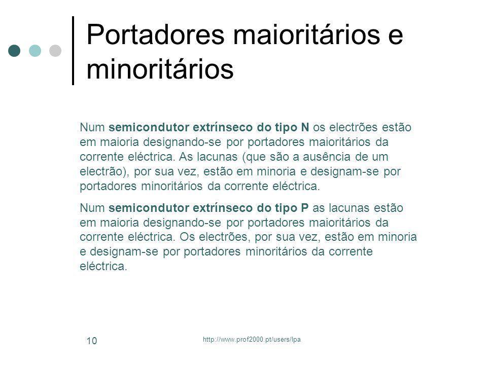Portadores maioritários e minoritários