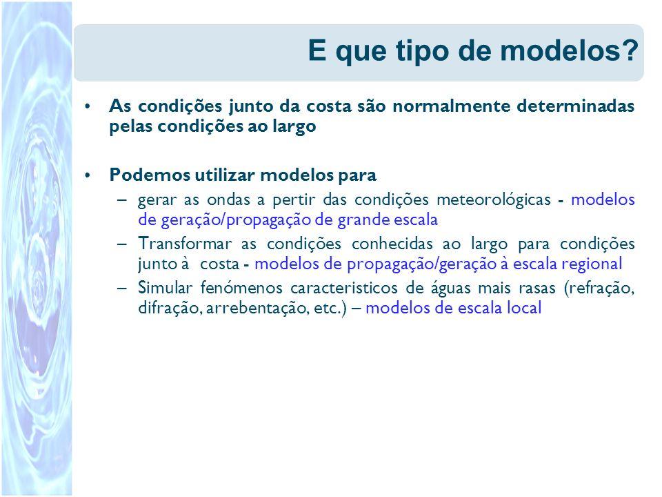 E que tipo de modelos As condições junto da costa são normalmente determinadas pelas condições ao largo.