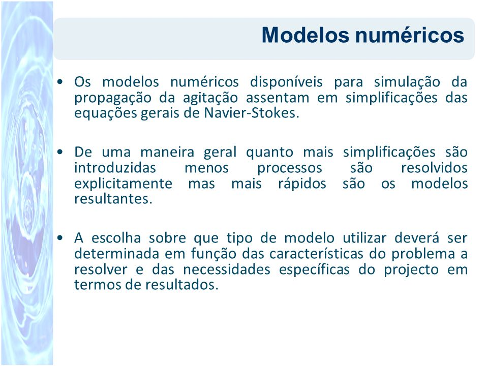 Modelos numéricos