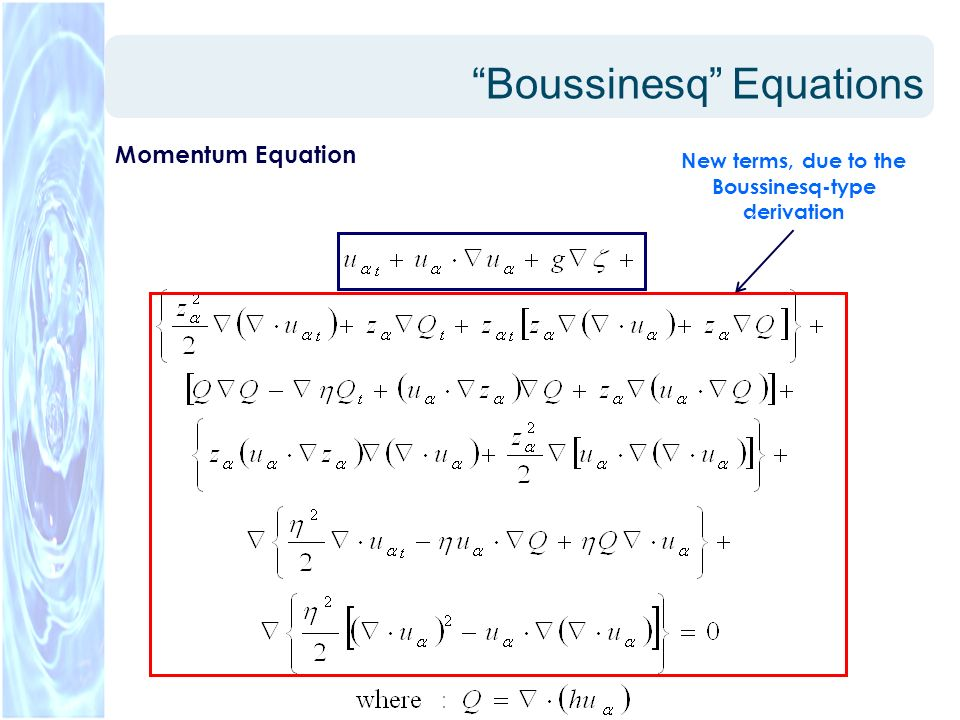 Boussinesq Equations