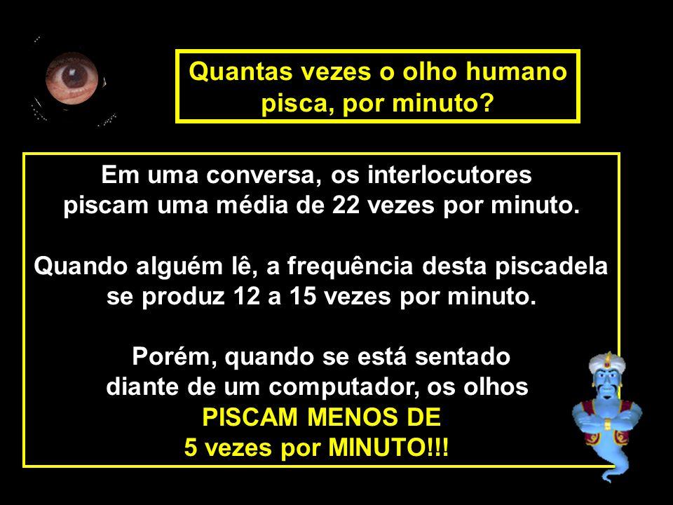 Quantas vezes o olho humano pisca, por minuto