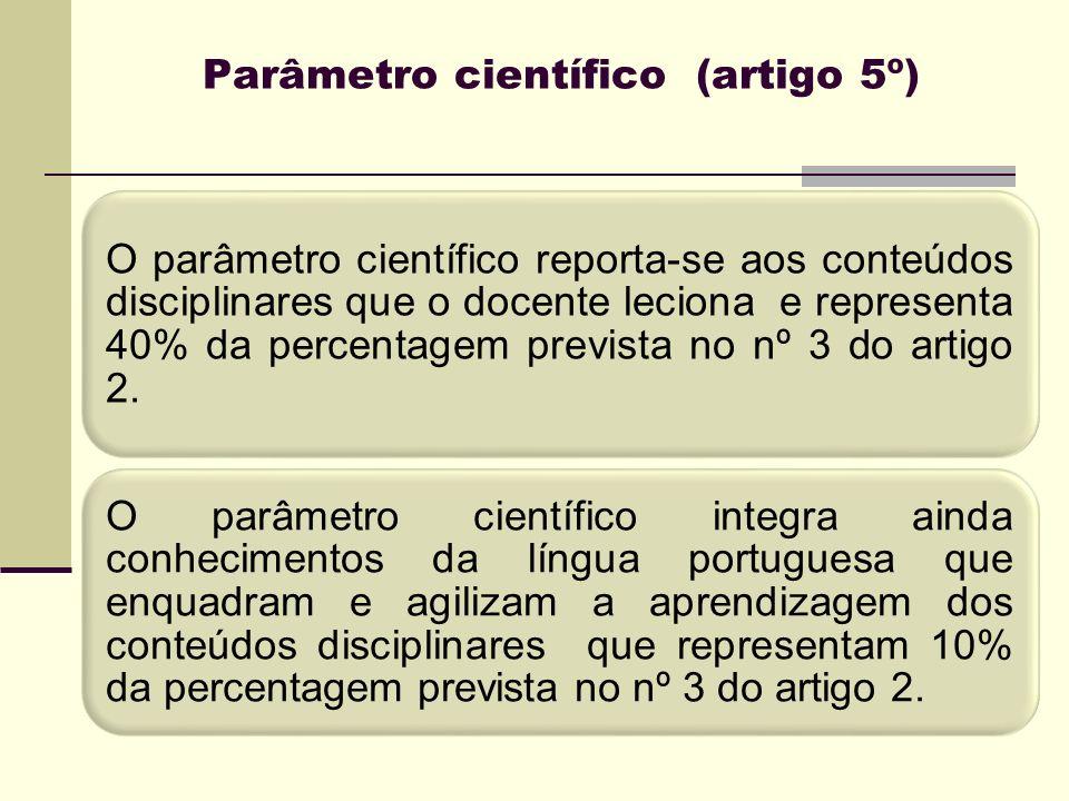Parâmetro científico (artigo 5º)