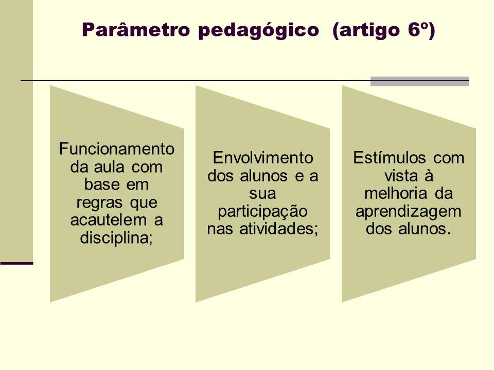 Parâmetro pedagógico (artigo 6º)