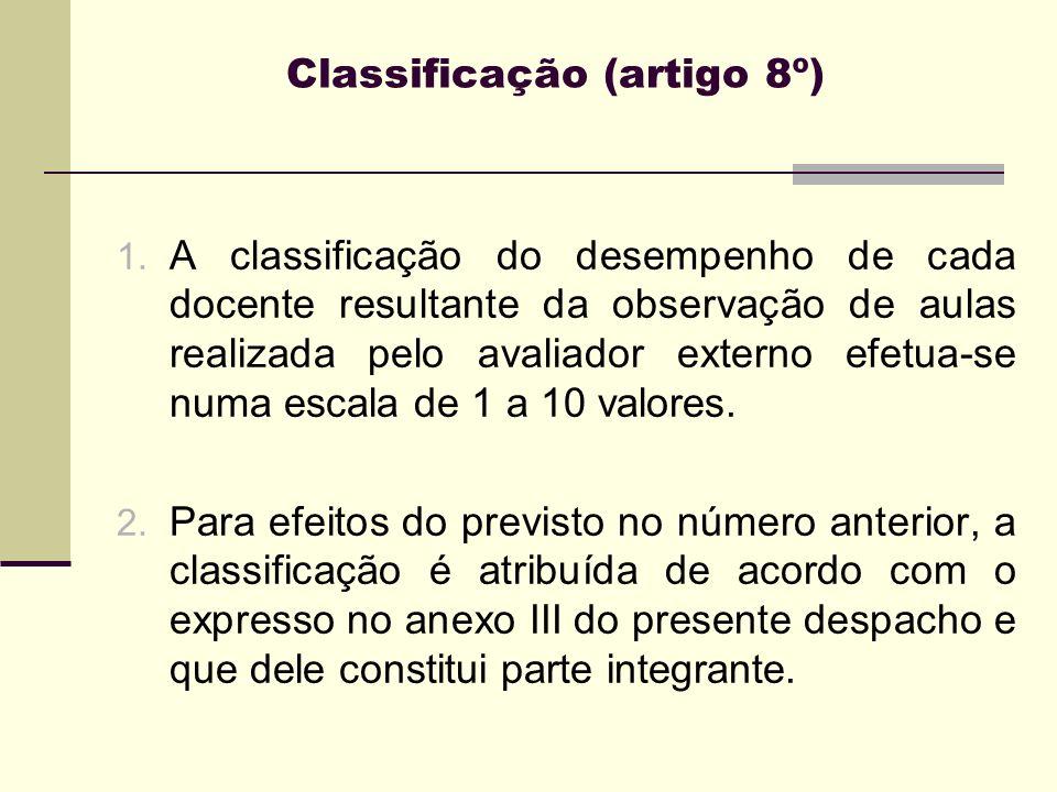 Classificação (artigo 8º)