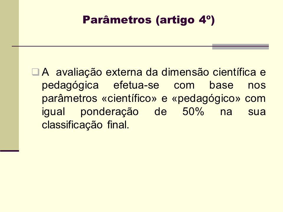 Parâmetros (artigo 4º)