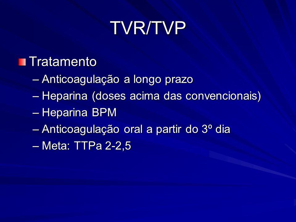 TVR/TVP Tratamento Anticoagulação a longo prazo