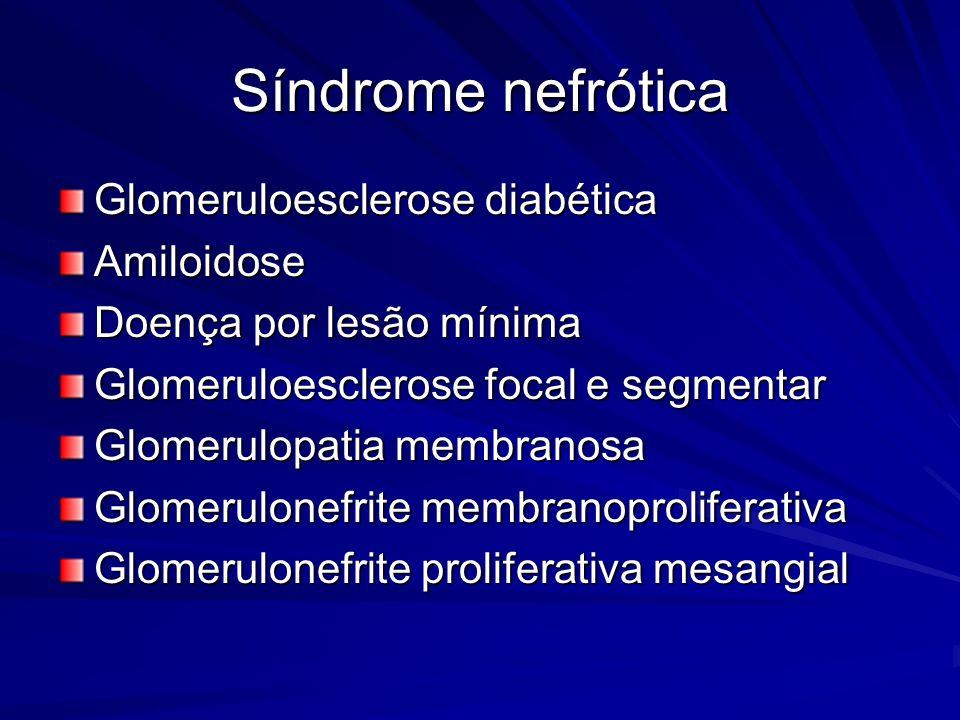 Síndrome nefrótica Glomeruloesclerose diabética Amiloidose