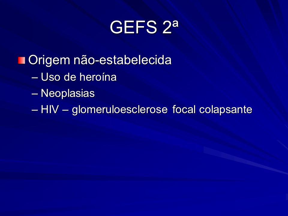 GEFS 2ª Origem não-estabelecida Uso de heroína Neoplasias
