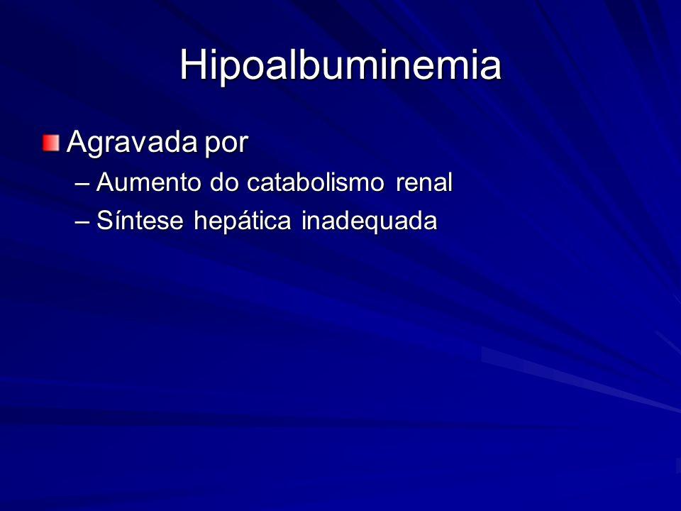 Hipoalbuminemia Agravada por Aumento do catabolismo renal