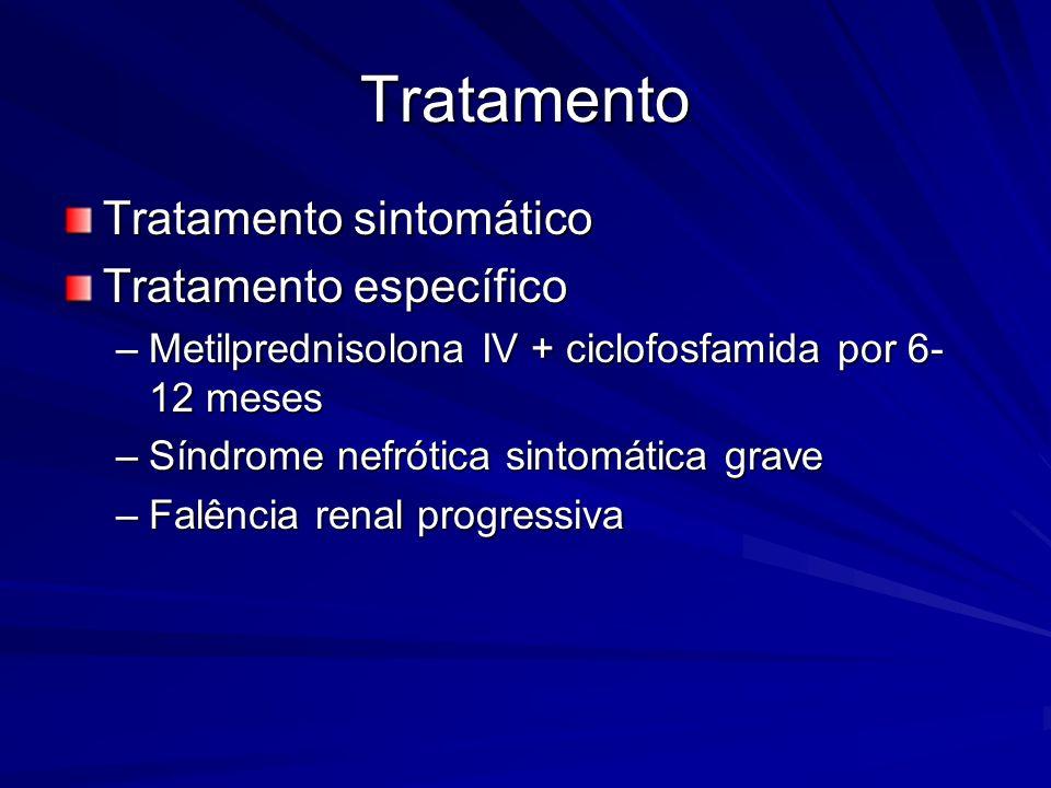 Tratamento Tratamento sintomático Tratamento específico