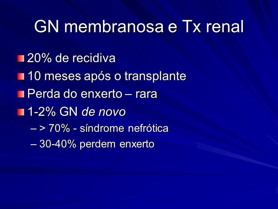GN membranosa e Tx renal