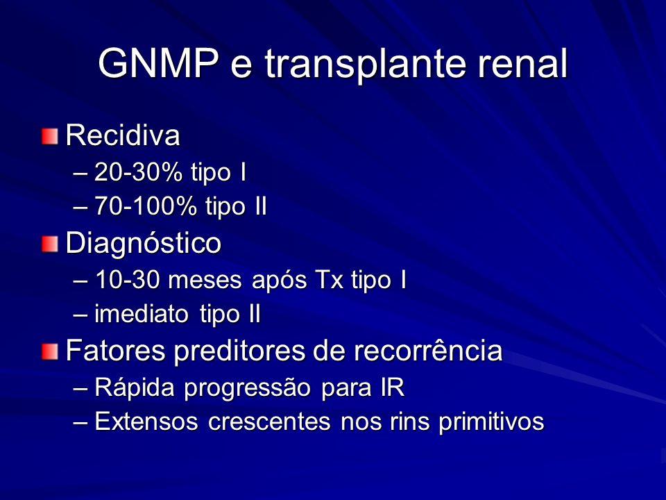 GNMP e transplante renal