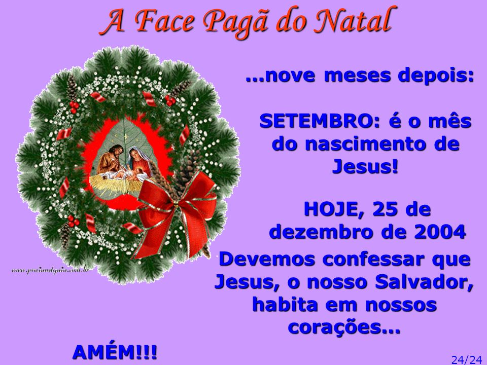 SETEMBRO: é o mês do nascimento de Jesus!
