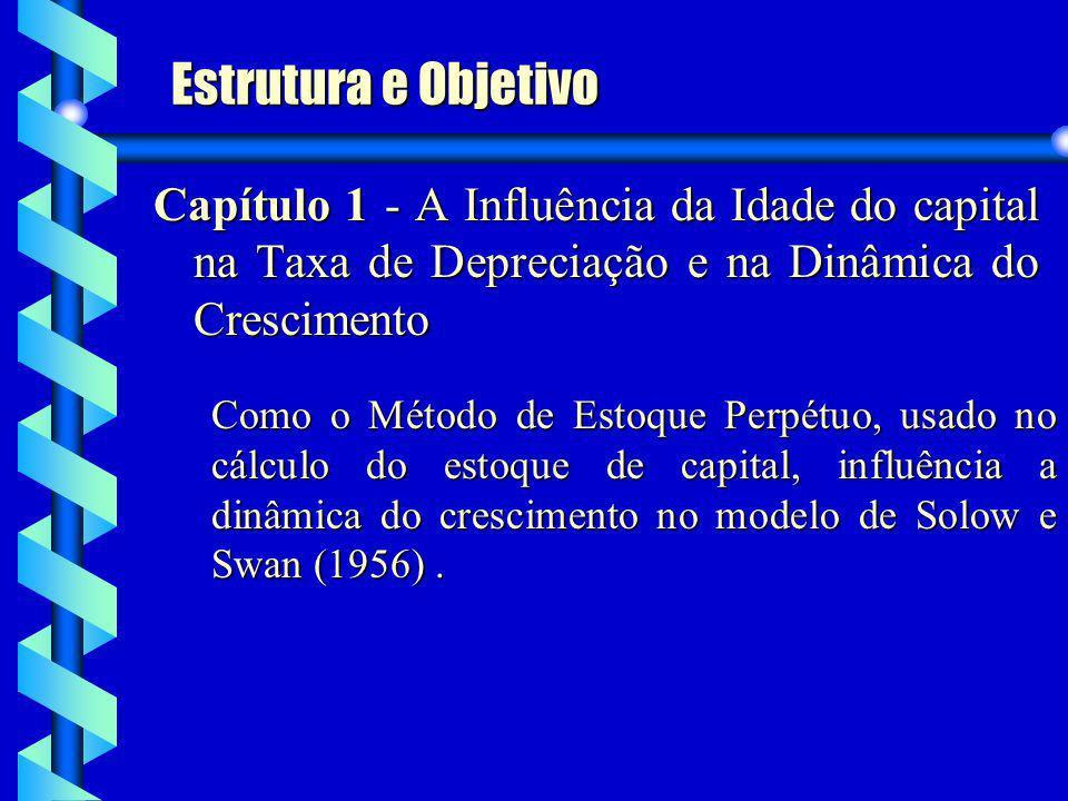 Estrutura e Objetivo Capítulo 1 - A Influência da Idade do capital na Taxa de Depreciação e na Dinâmica do Crescimento.