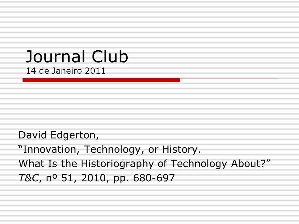 Journal Club 14 de Janeiro 2011