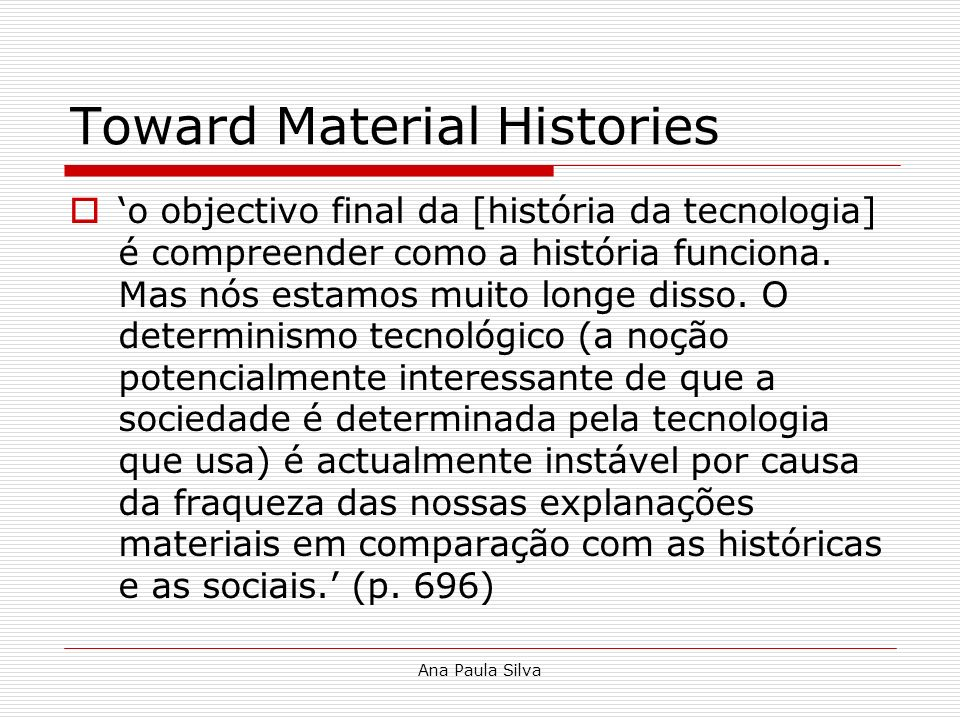 Toward Material Histories