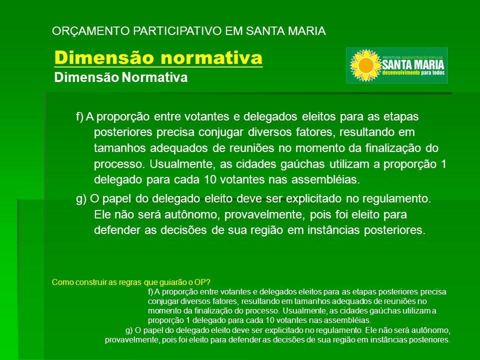 Dimensão normativa Dimensão Normativa