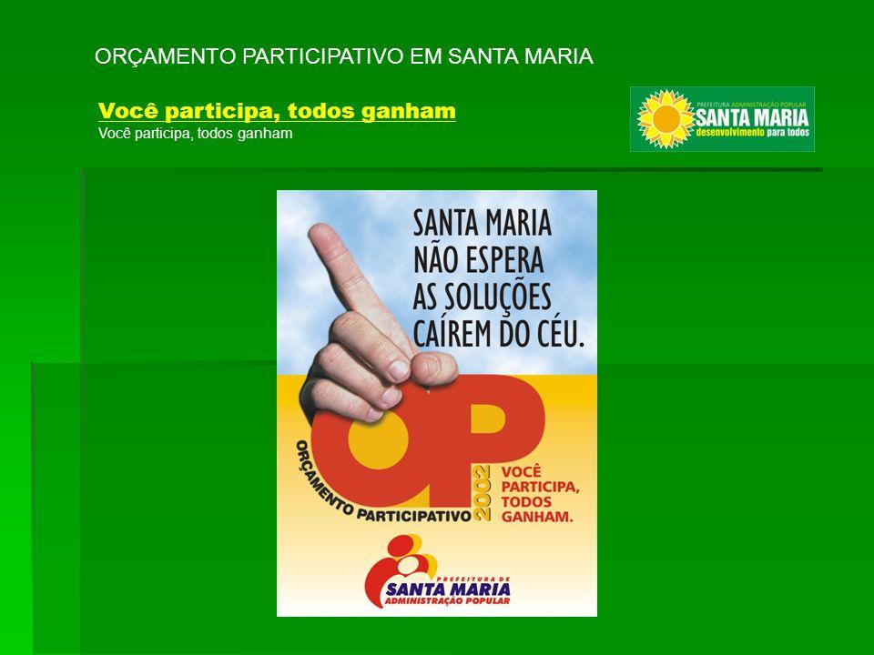 ORÇAMENTO PARTICIPATIVO EM SANTA MARIA