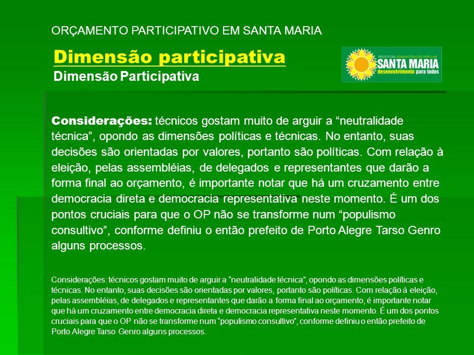Dimensão participativa