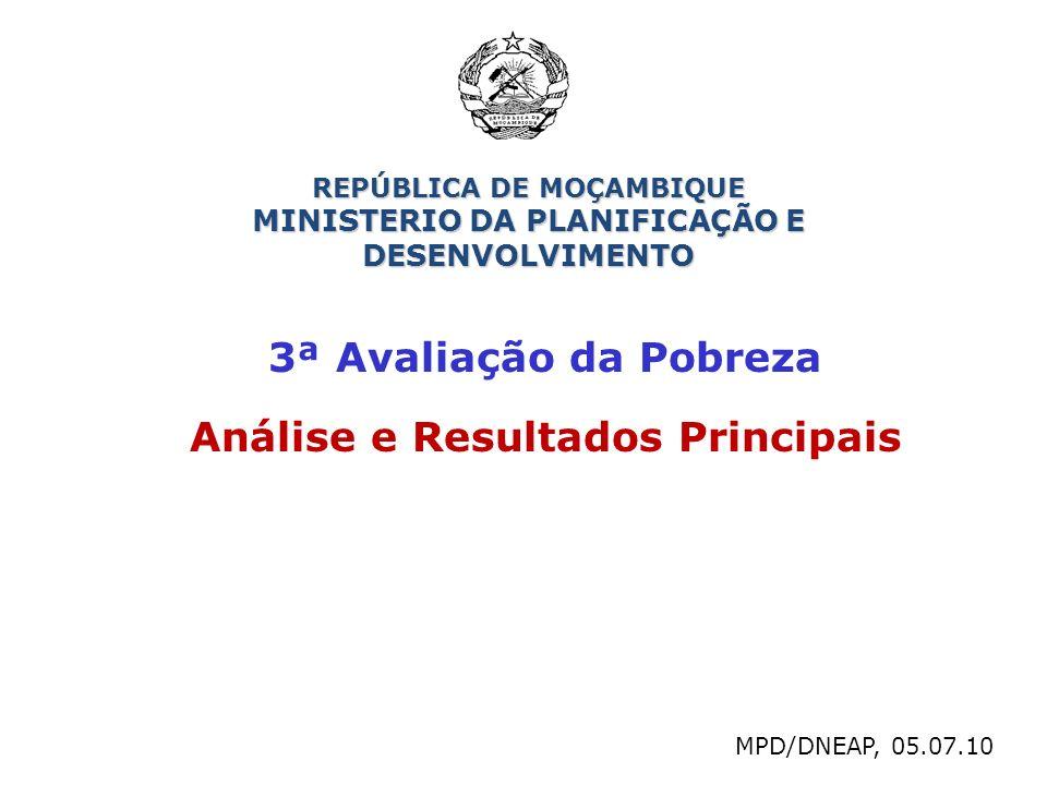 3ª Avaliação da Pobreza Análise e Resultados Principais