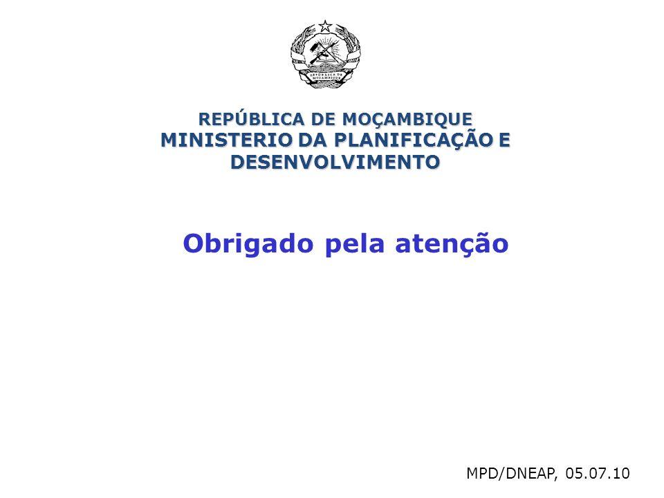 REPÚBLICA DE MOÇAMBIQUE MINISTERIO DA PLANIFICAÇÃO E DESENVOLVIMENTO