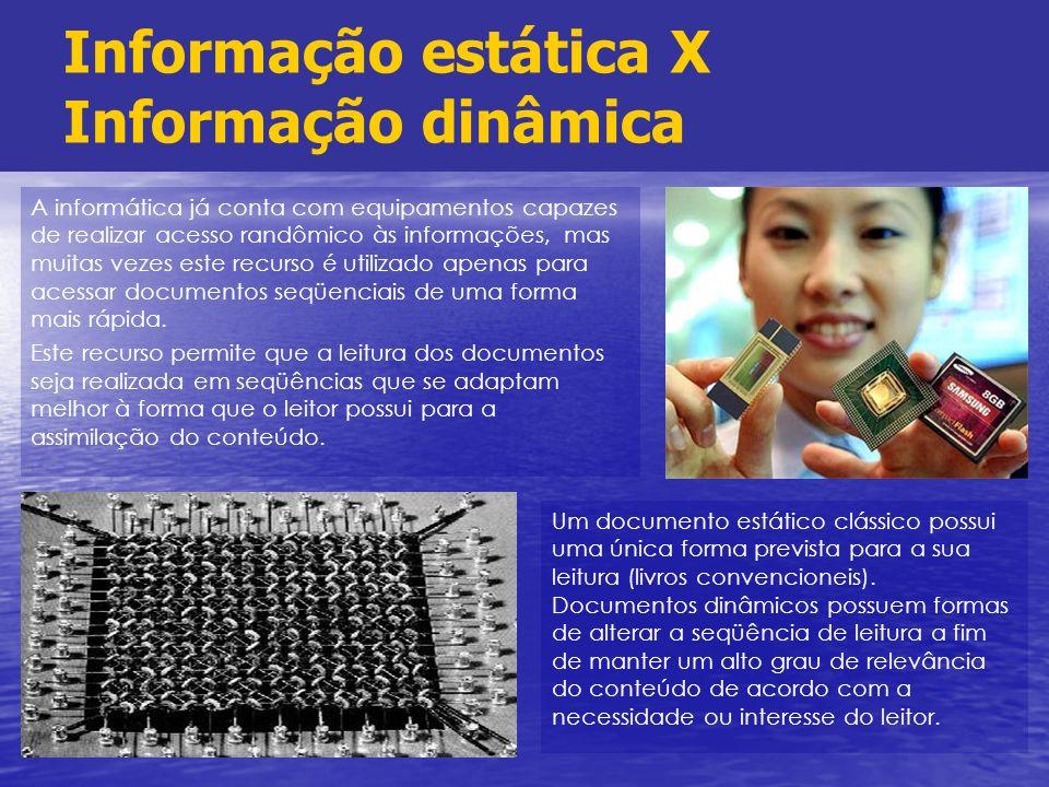Informação estática X Informação dinâmica
