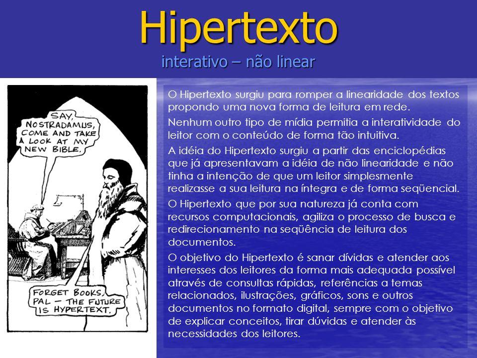 Hipertexto interativo – não linear