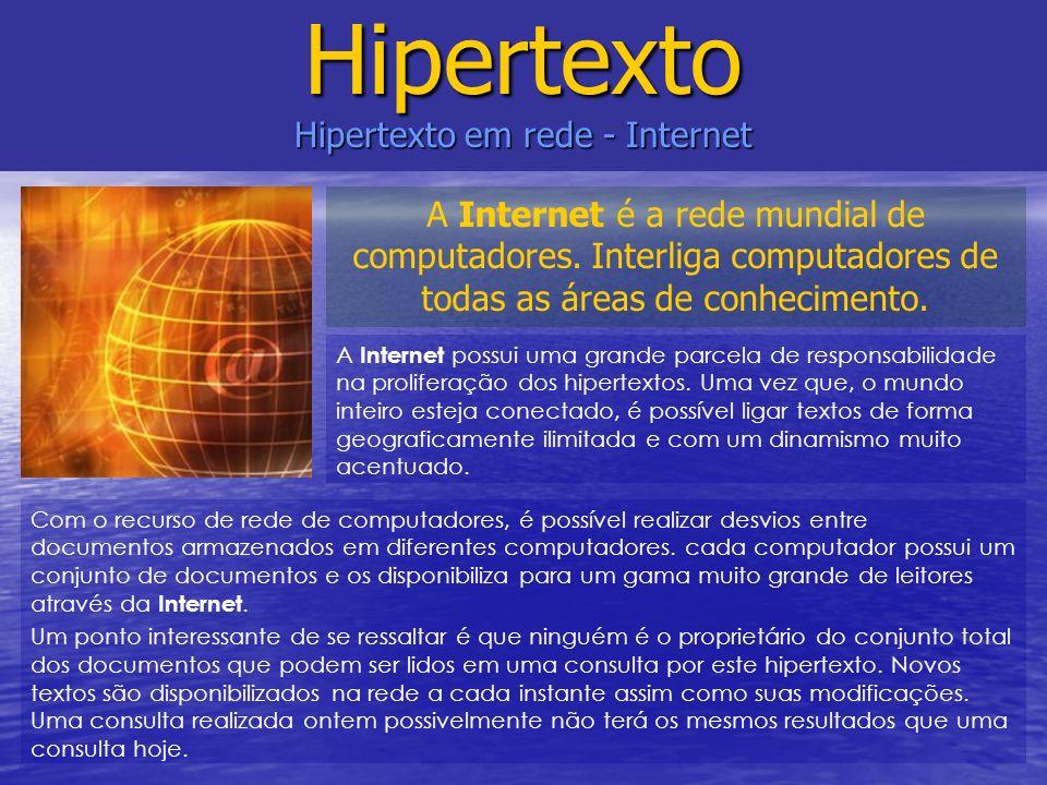 Hipertexto Hipertexto em rede - Internet
