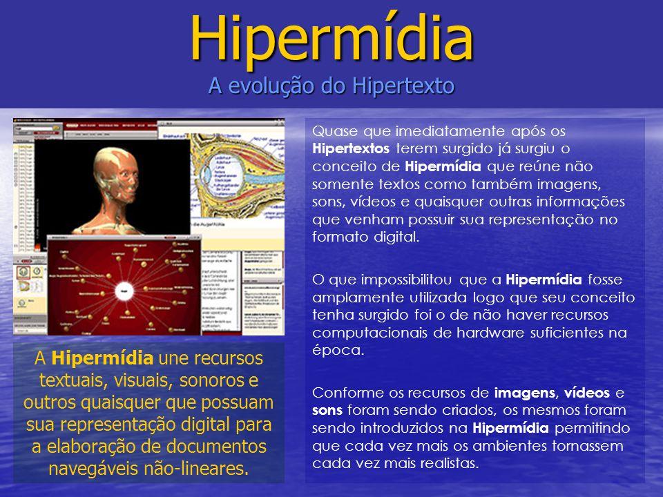 Hipermídia A evolução do Hipertexto