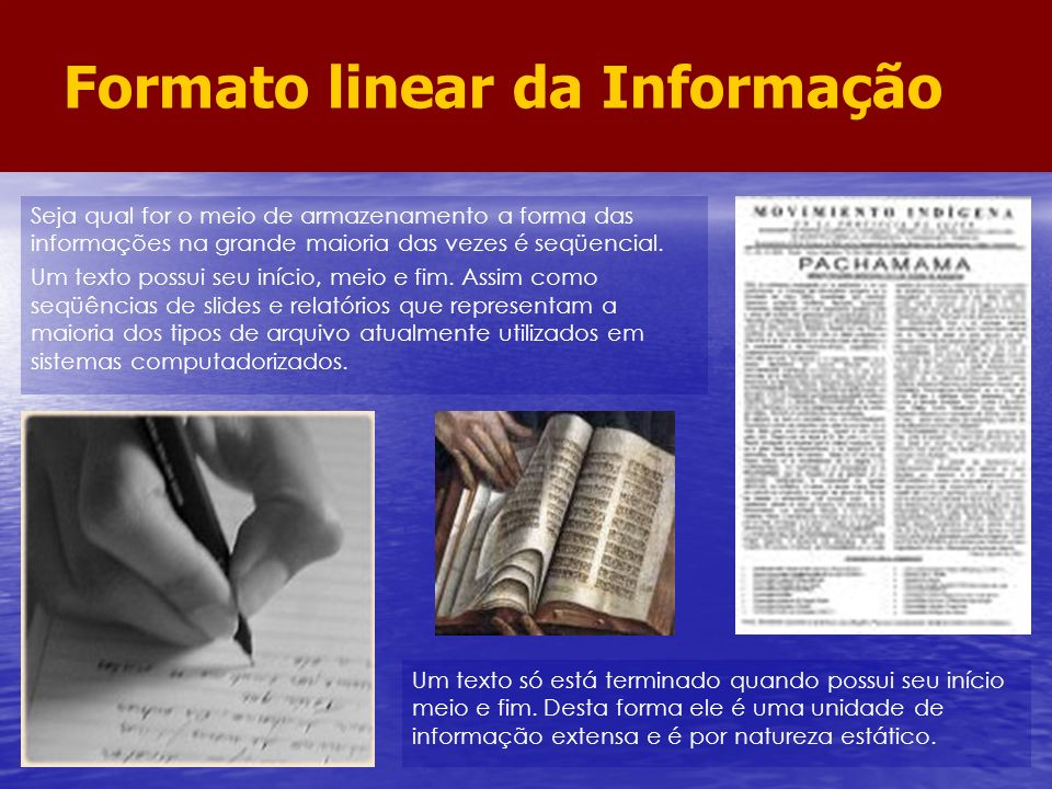Formato linear da Informação