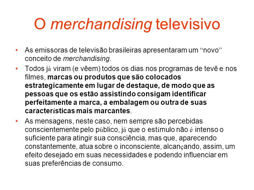 O merchandising televisivo
