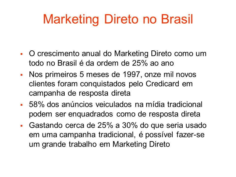 Marketing Direto no Brasil