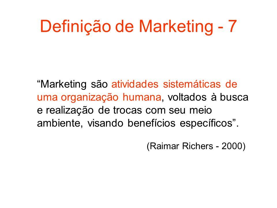 Definição de Marketing - 7