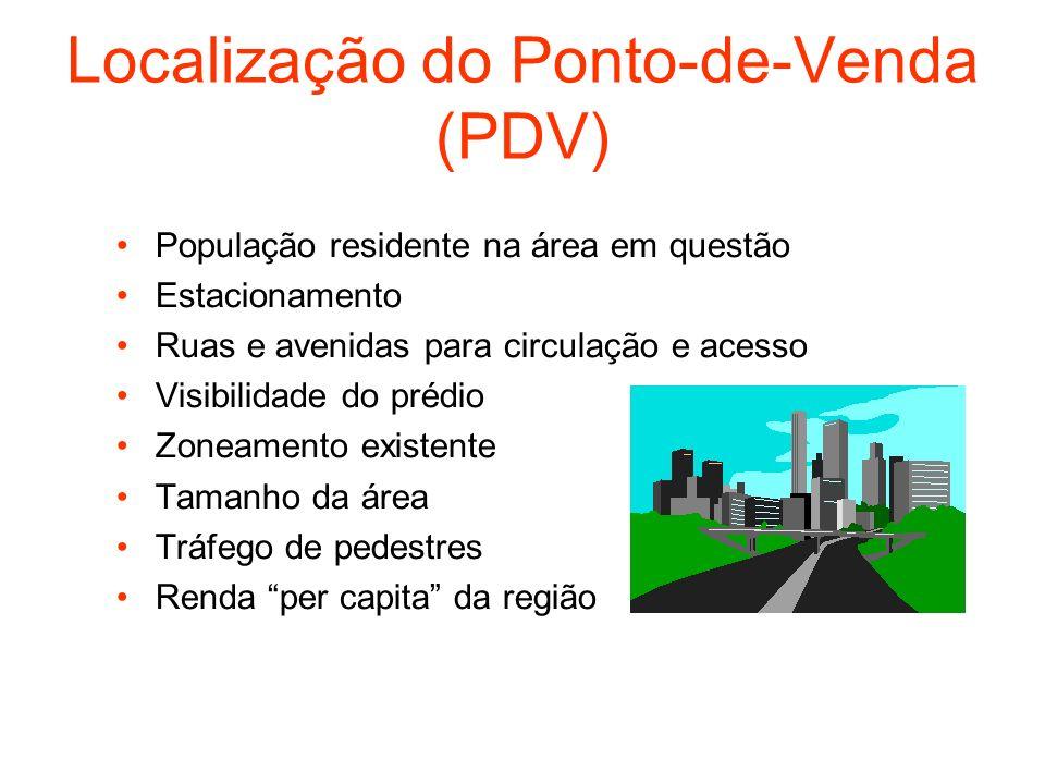 Localização do Ponto-de-Venda (PDV)